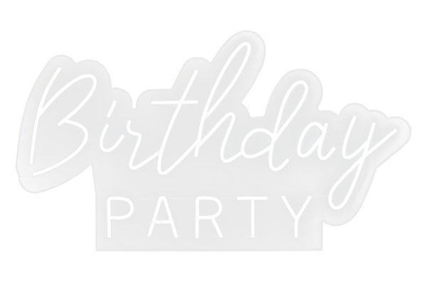 Надпись неоновая на день рождения