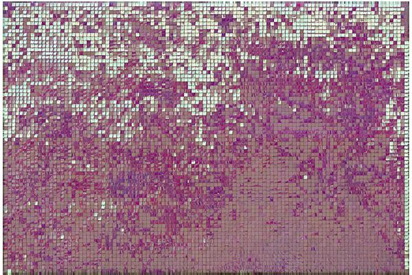 Розово-сиреневая пайеточная фотозона хамелеон в аренду